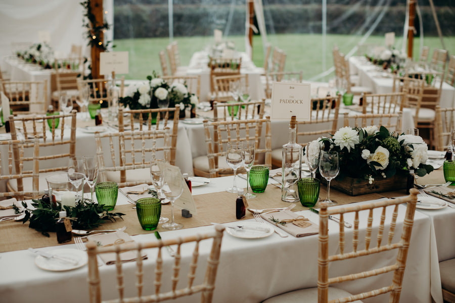 white and green for a gorgeous summer marquee wedding in Herefordshire, images by Richard Skins Photography (9)