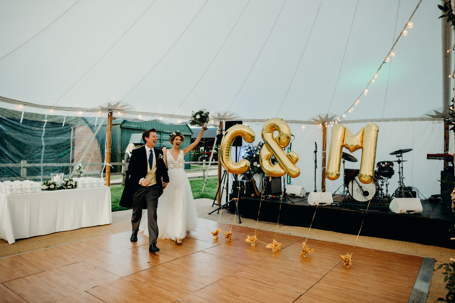 white and green for a gorgeous summer marquee wedding in Herefordshire, images by Richard Skins Photography (29)