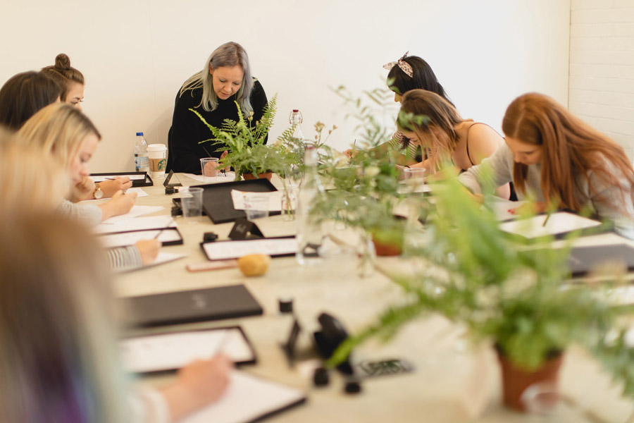 calligraphy classes for beginners from Claire Gould at By Moon and Tide, photo credit Zehra Jagani (4)