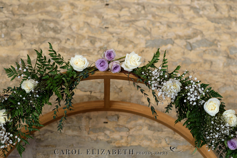 Purple styling and an elegant rustic theme for Fiona and Ashley's Stratton Court Barn Oxfordshire wedding. Images by Carol Elizabeth Photography on English-Wedding.com (7)