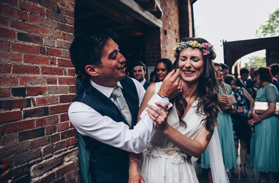 Relaxed hippie boho vibe wedding at Shustoke Farm Barns with Winnington & Coe Photography (40)