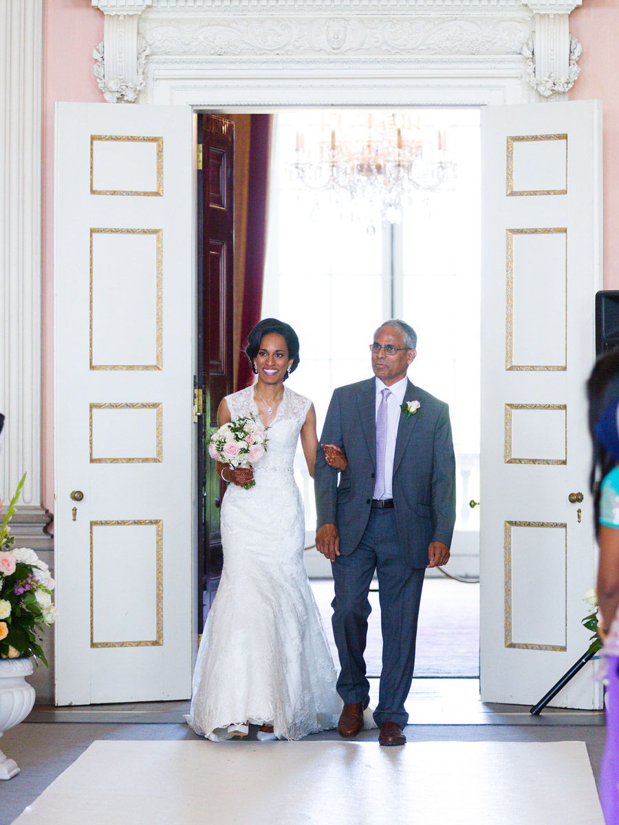 Glorious colour and beautiful gowns for a real wedding at Ragley Hall, images by Clive Blair Photography on the English Wedding Blog (13)