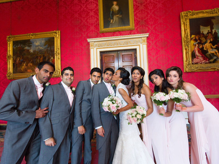 Glorious colour and beautiful gowns for a real wedding at Ragley Hall, images by Clive Blair Photography on the English Wedding Blog (20)