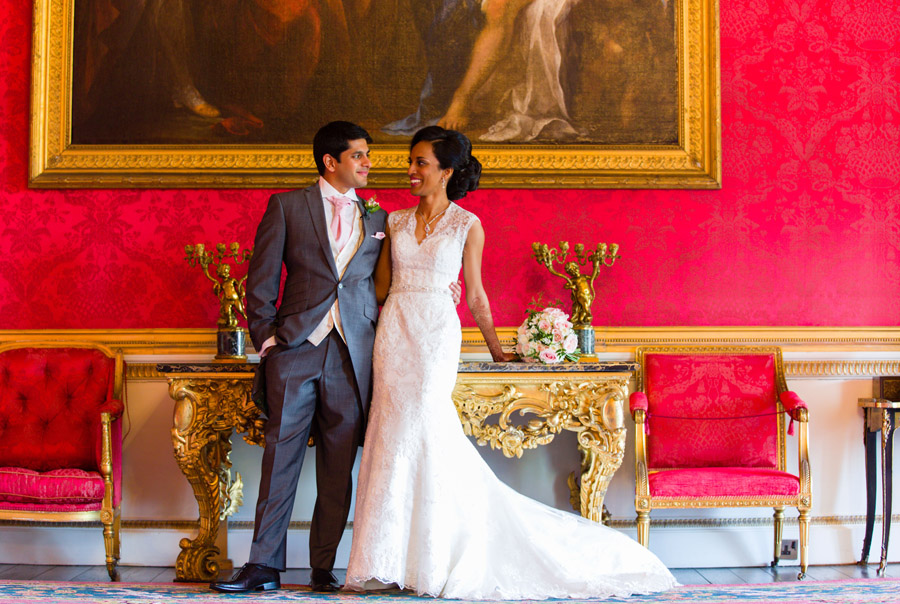 Glorious colour and beautiful gowns for a real wedding at Ragley Hall, images by Clive Blair Photography on the English Wedding Blog (21)