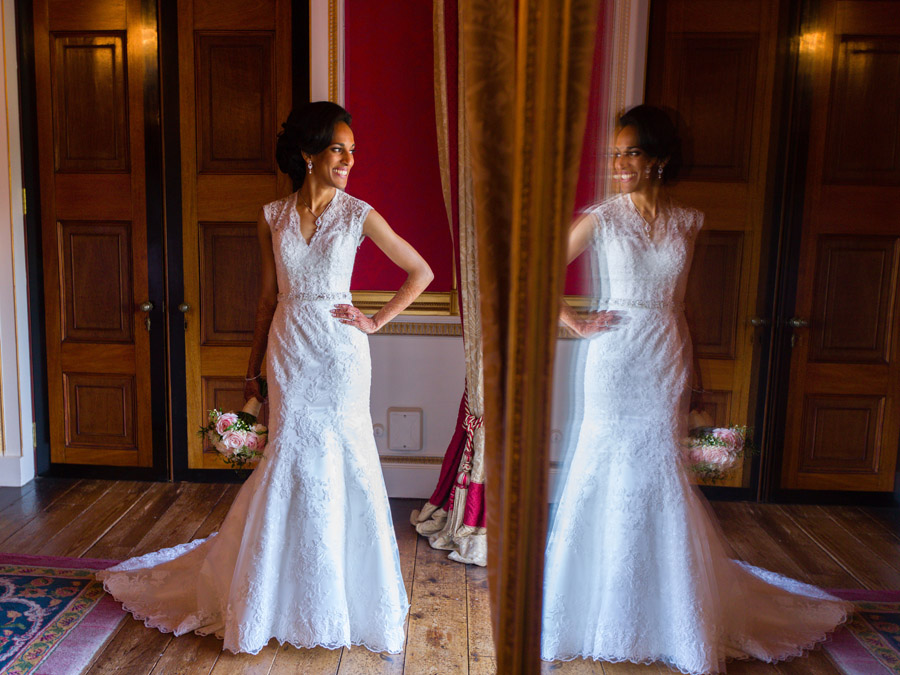 Glorious colour and beautiful gowns for a real wedding at Ragley Hall, images by Clive Blair Photography on the English Wedding Blog (22)