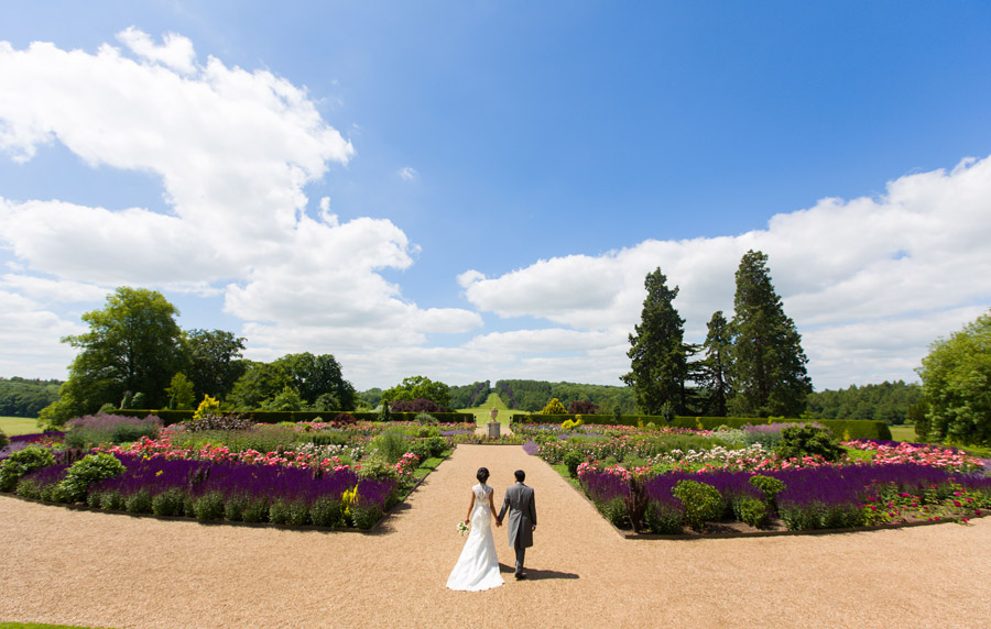 Glorious colour and beautiful gowns for a real wedding at Ragley Hall, images by Clive Blair Photography on the English Wedding Blog (28)