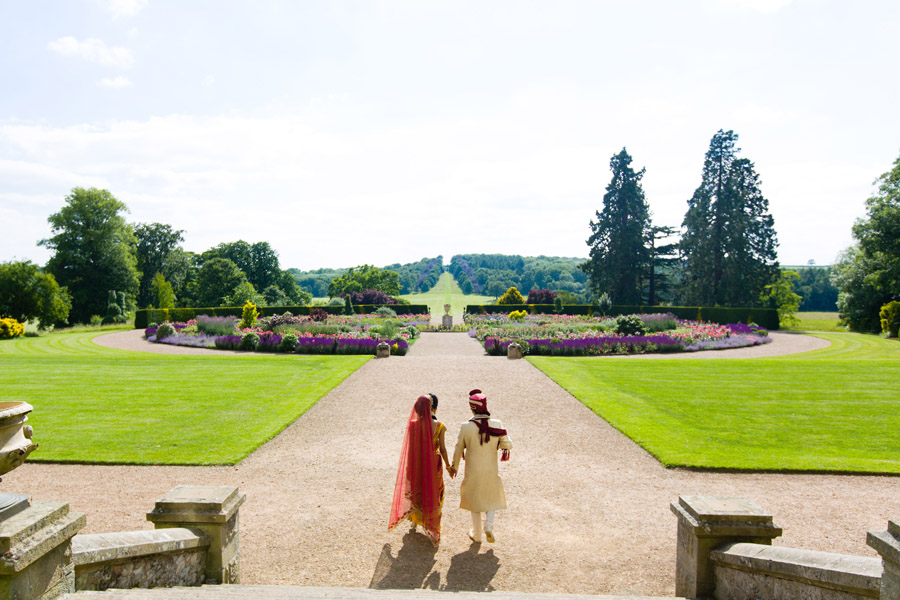 Glorious colour and beautiful gowns for a real wedding at Ragley Hall, images by Clive Blair Photography on the English Wedding Blog (35)