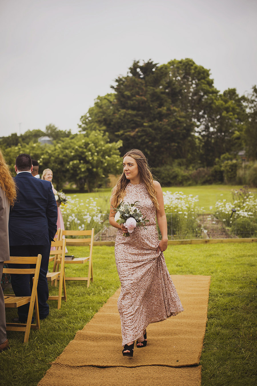 Relaxed outdoor wedding at Cott Farm Barn with images by Heather Birnie Photography on the English Wedding Blog (13)