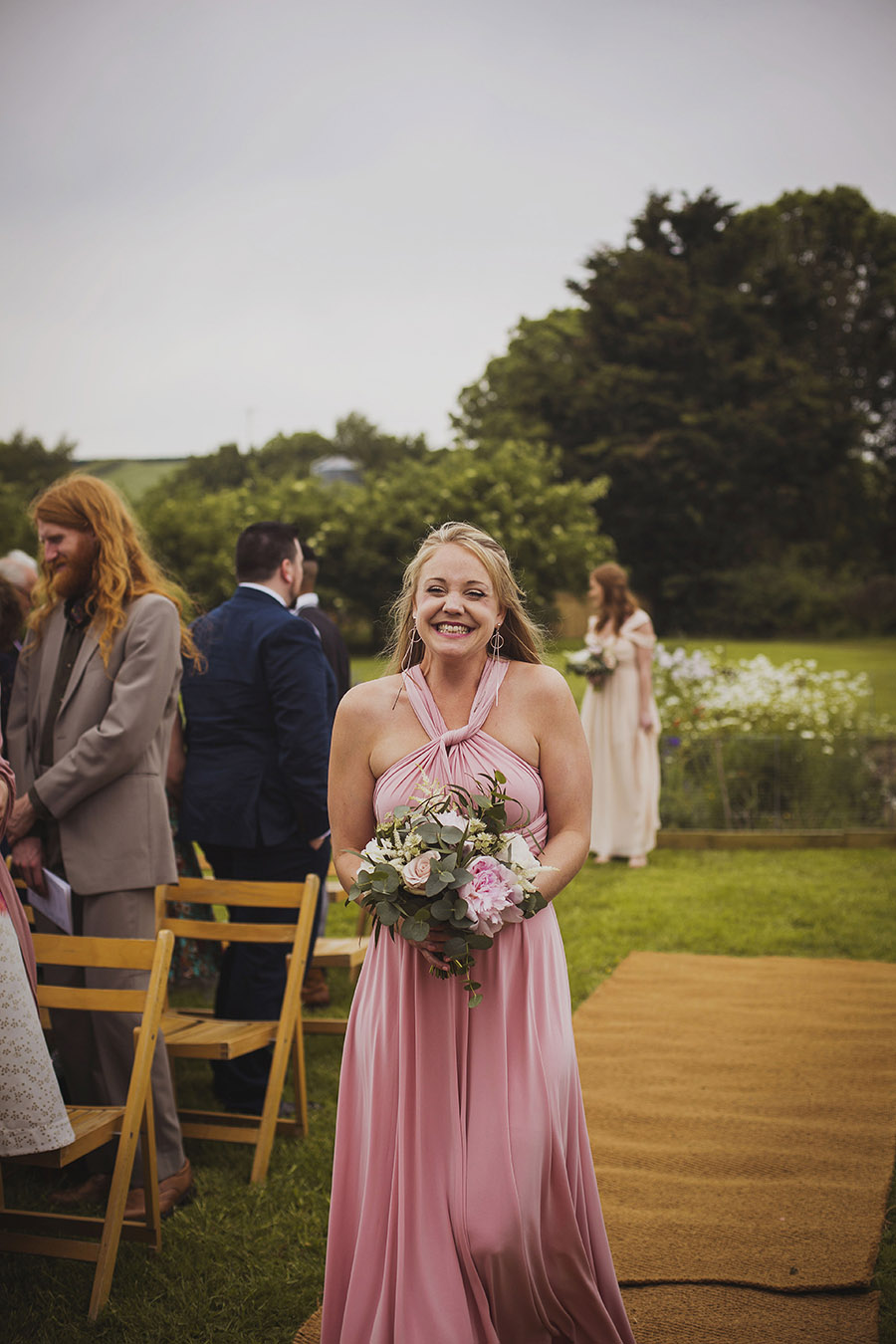 Relaxed outdoor wedding at Cott Farm Barn with images by Heather Birnie Photography on the English Wedding Blog (14)