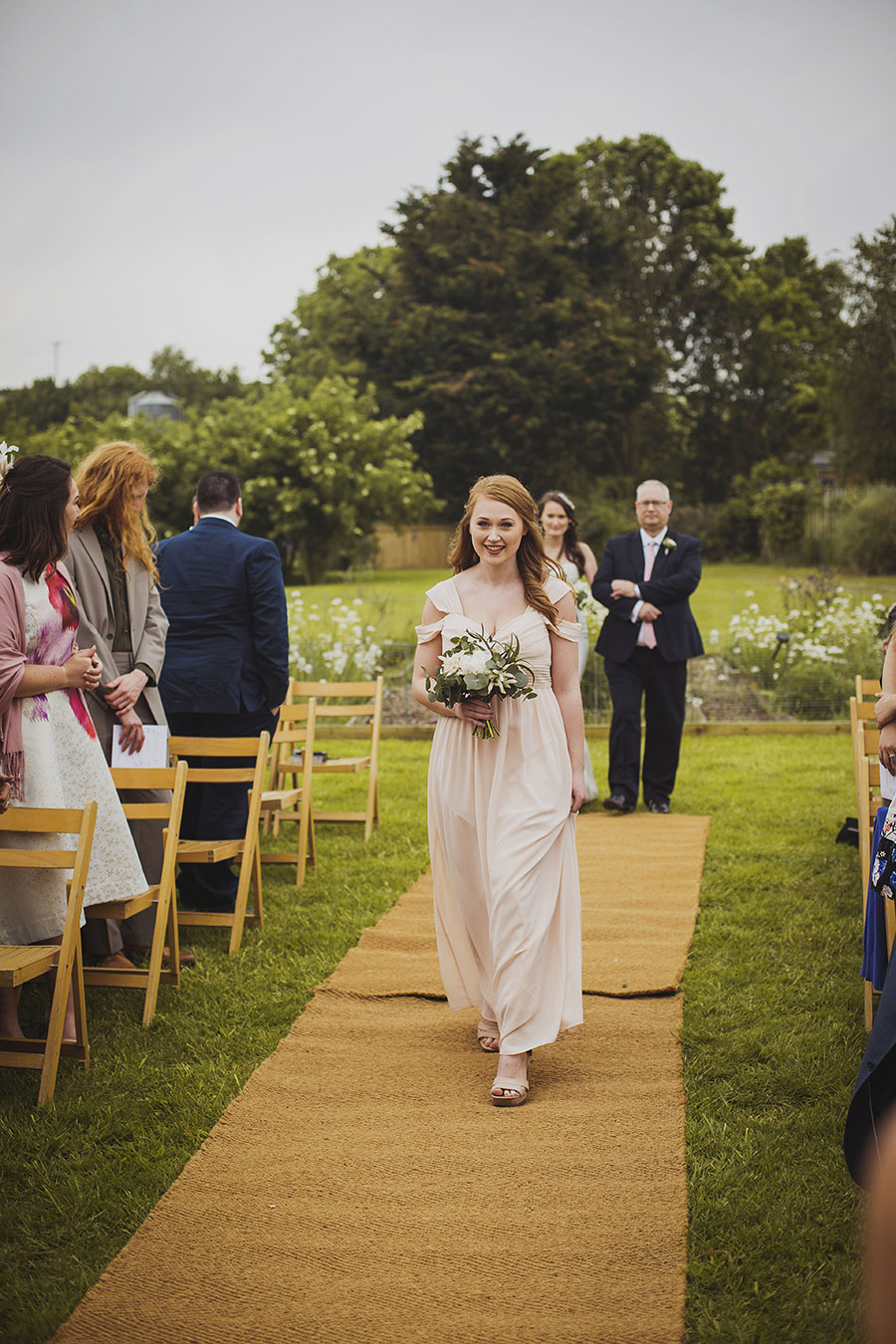 Relaxed outdoor wedding at Cott Farm Barn with images by Heather Birnie Photography on the English Wedding Blog (16)