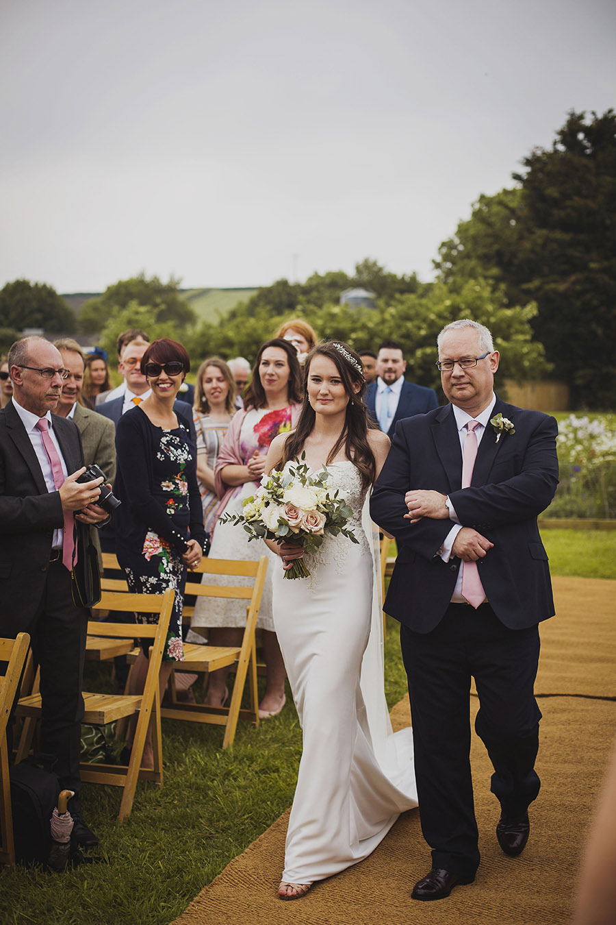 Relaxed outdoor wedding at Cott Farm Barn with images by Heather Birnie Photography on the English Wedding Blog (17)