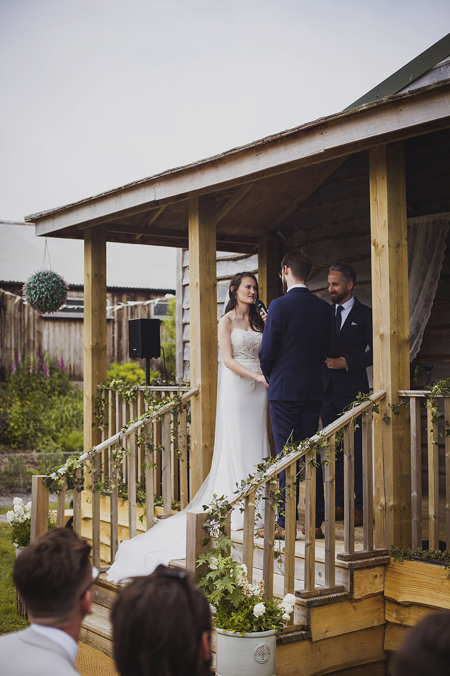 Relaxed outdoor wedding at Cott Farm Barn with images by Heather Birnie Photography on the English Wedding Blog (18)