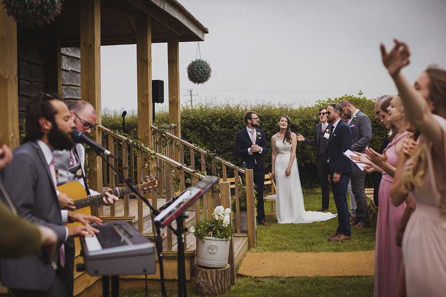 Relaxed outdoor wedding at Cott Farm Barn with images by Heather Birnie Photography on the English Wedding Blog (23)
