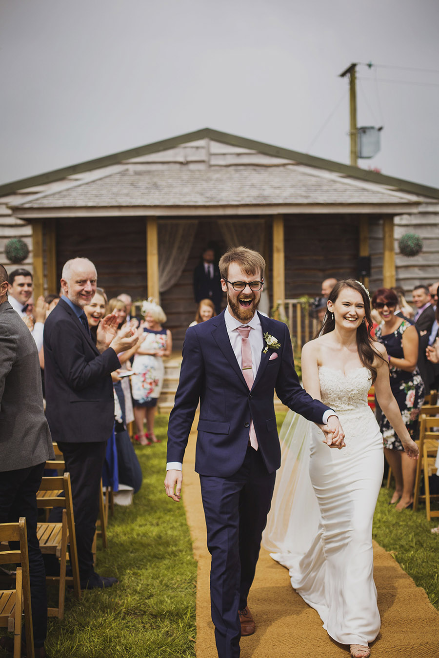 Relaxed outdoor wedding at Cott Farm Barn with images by Heather Birnie Photography on the English Wedding Blog (24)