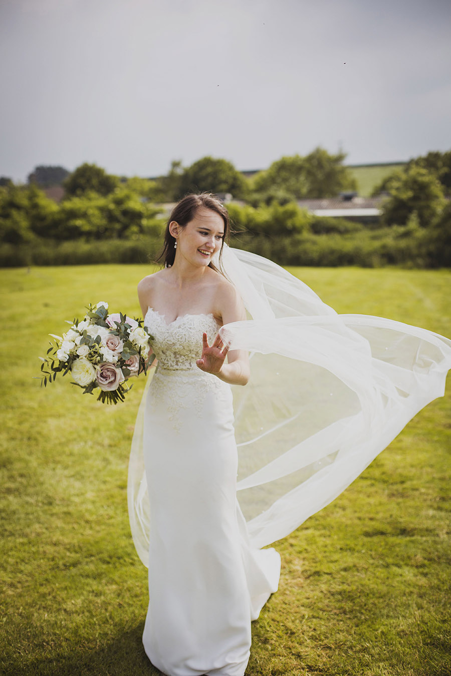 Relaxed outdoor wedding at Cott Farm Barn with images by Heather Birnie Photography on the English Wedding Blog (29)