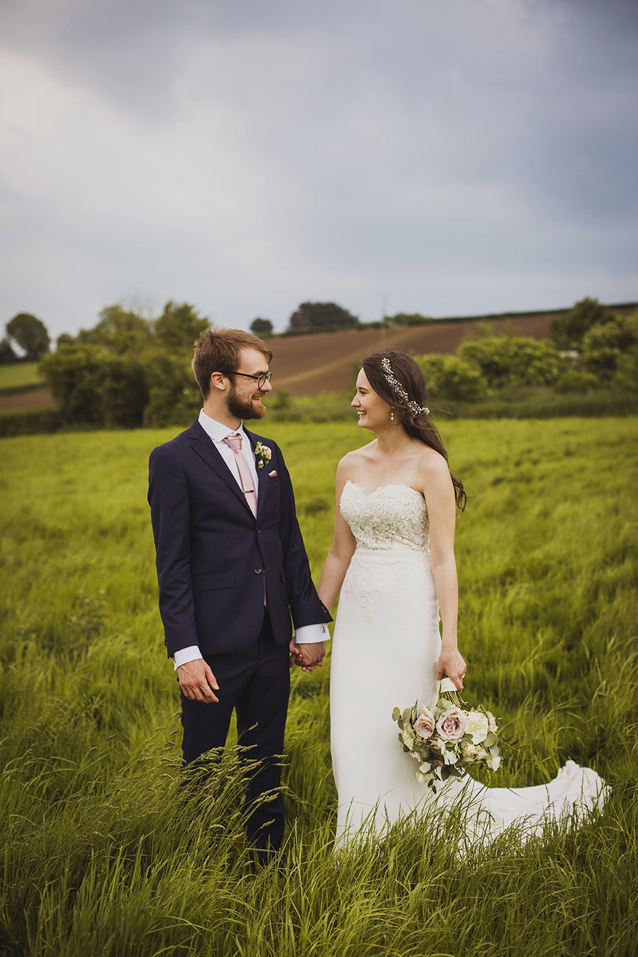Relaxed outdoor wedding at Cott Farm Barn with images by Heather Birnie Photography on the English Wedding Blog (43)