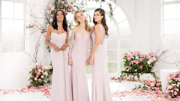 The English Wedding Blog showcases Kelsey Rose bridesmaids dresses for 2019 in dusty pink, pastel yellow and blue and more (37)