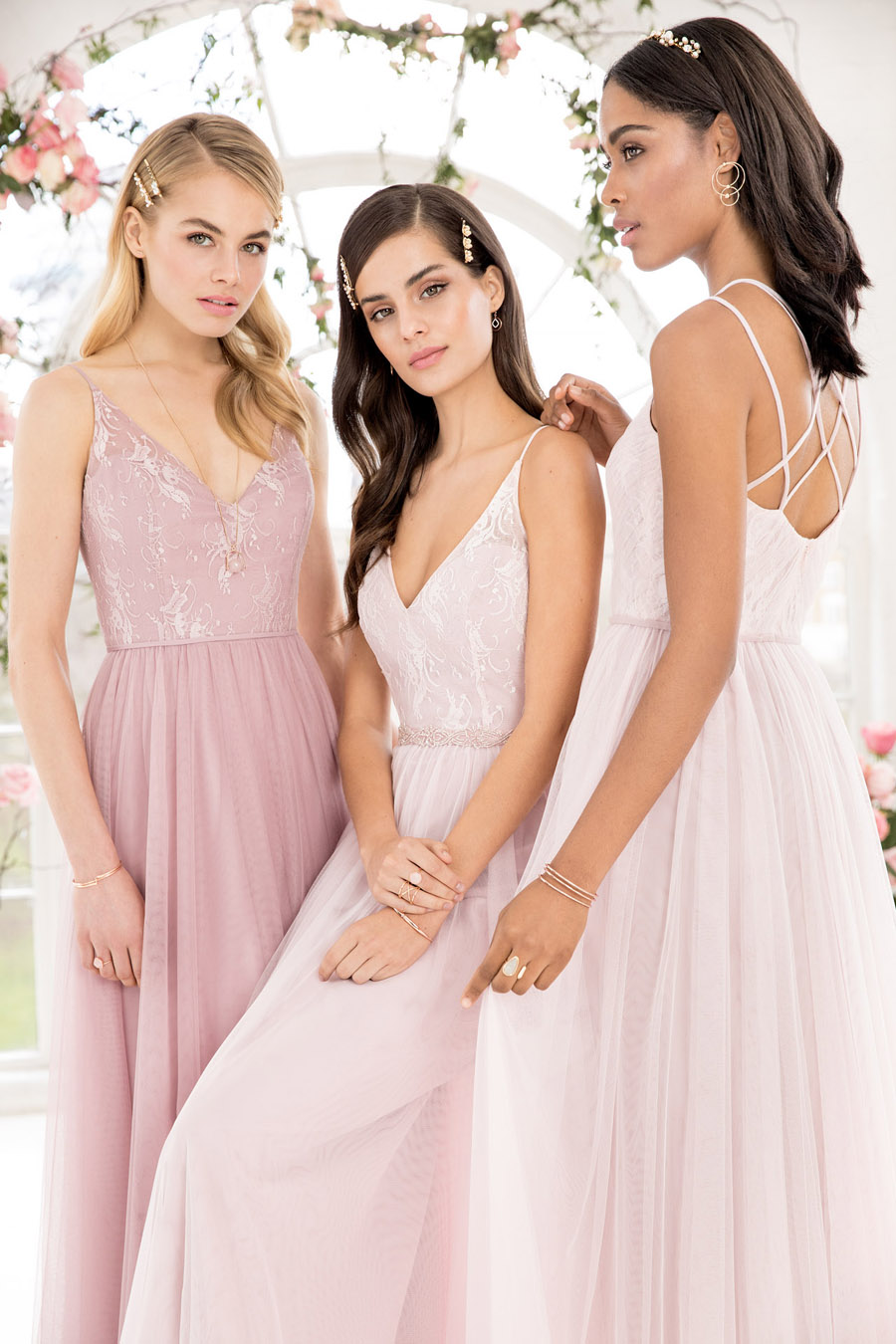 The English Wedding Blog showcases Kelsey Rose bridesmaids dresses for 2019 in dusty pink, pastel yellow and blue and more (36)