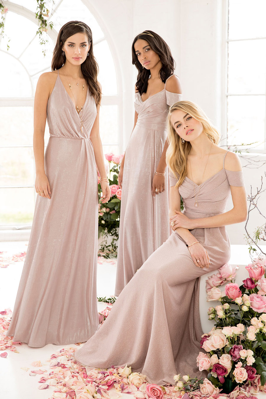 The English Wedding Blog showcases Kelsey Rose bridesmaids dresses for 2019 in dusty pink, pastel yellow and blue and more (35)