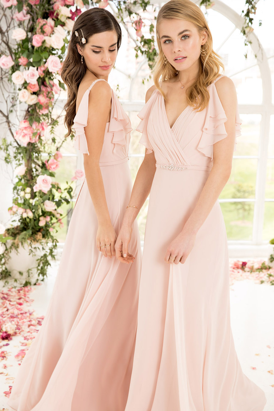 The English Wedding Blog showcases Kelsey Rose bridesmaids dresses for 2019 in dusty pink, pastel yellow and blue and more (34)