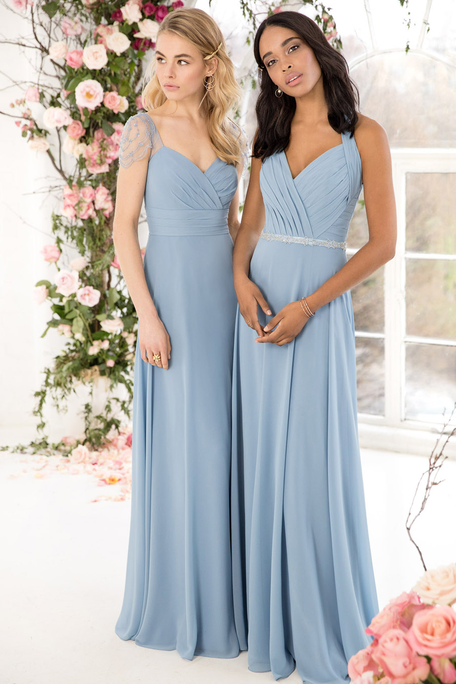 The English Wedding Blog showcases Kelsey Rose bridesmaids dresses for 2019 in dusty pink, pastel yellow and blue and more (33)