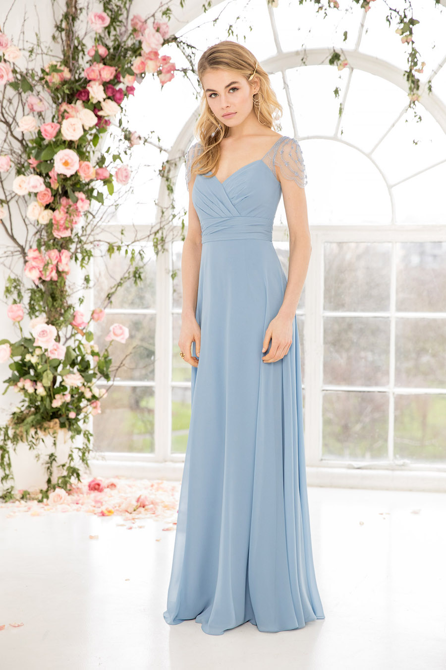 The English Wedding Blog showcases Kelsey Rose bridesmaids dresses for 2019 in dusty pink, pastel yellow and blue and more (27)