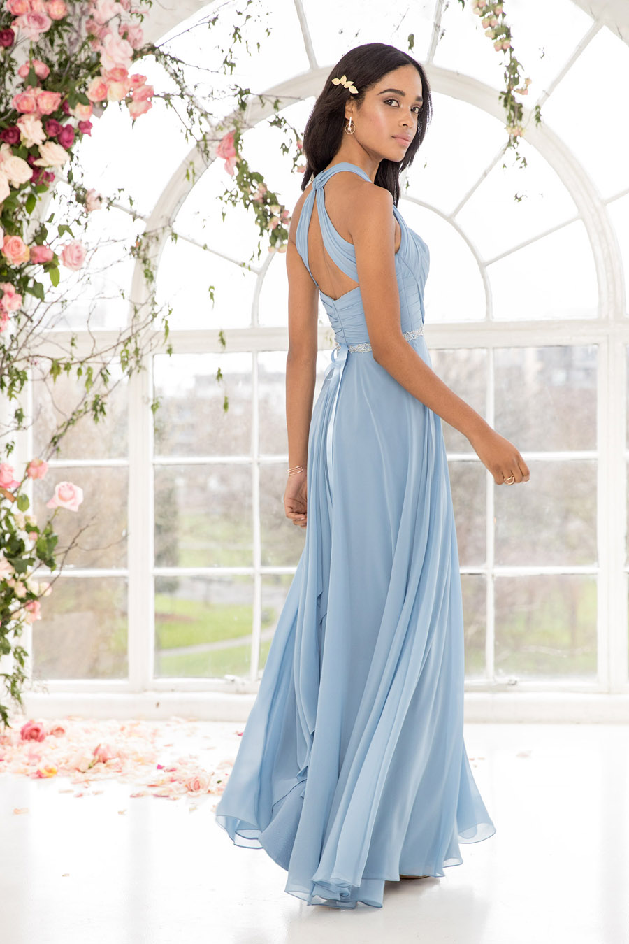 The English Wedding Blog showcases Kelsey Rose bridesmaids dresses for 2019 in dusty pink, pastel yellow and blue and more (26)