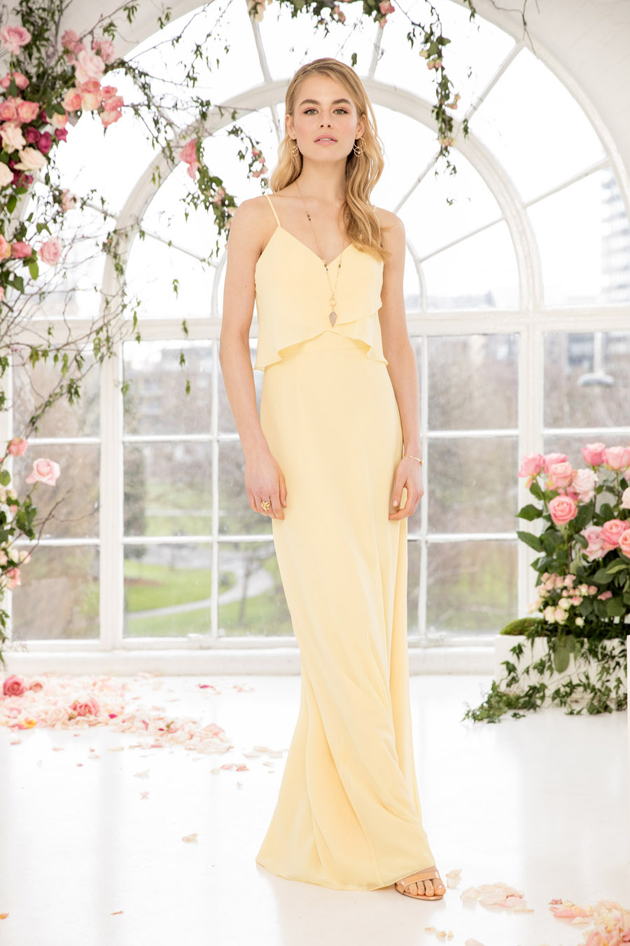 The English Wedding Blog showcases Kelsey Rose bridesmaids dresses for 2019 in dusty pink, pastel yellow and blue and more (23)