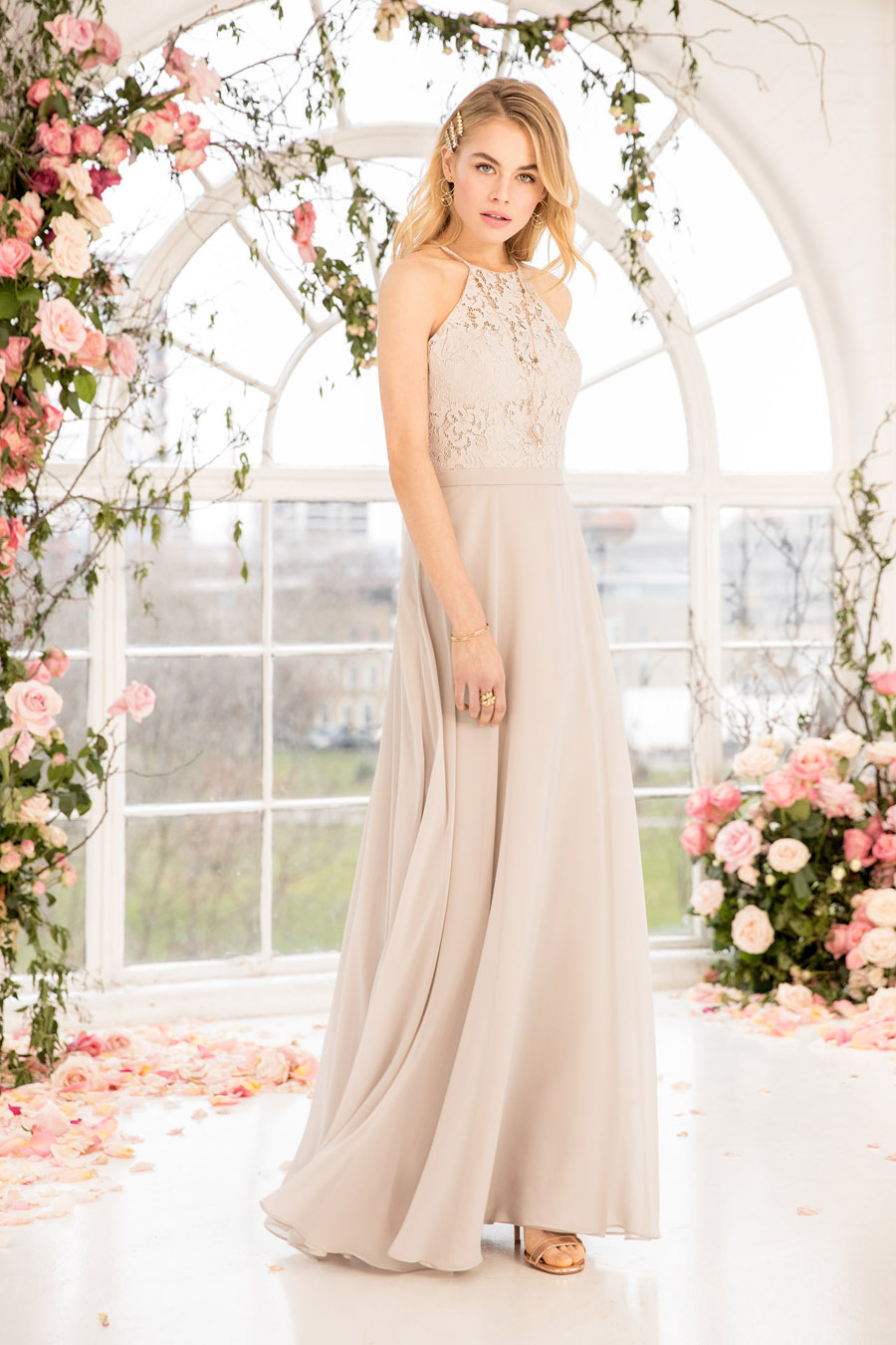 The English Wedding Blog showcases Kelsey Rose bridesmaids dresses for 2019 in dusty pink, pastel yellow and blue and more (18)