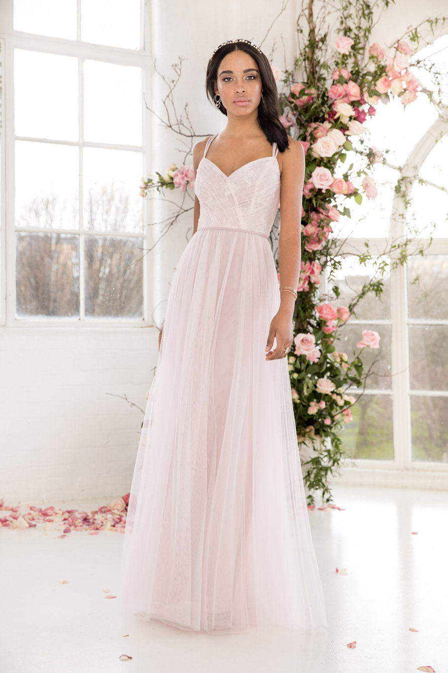 The English Wedding Blog showcases Kelsey Rose bridesmaids dresses for 2019 in dusty pink, pastel yellow and blue and more (9)