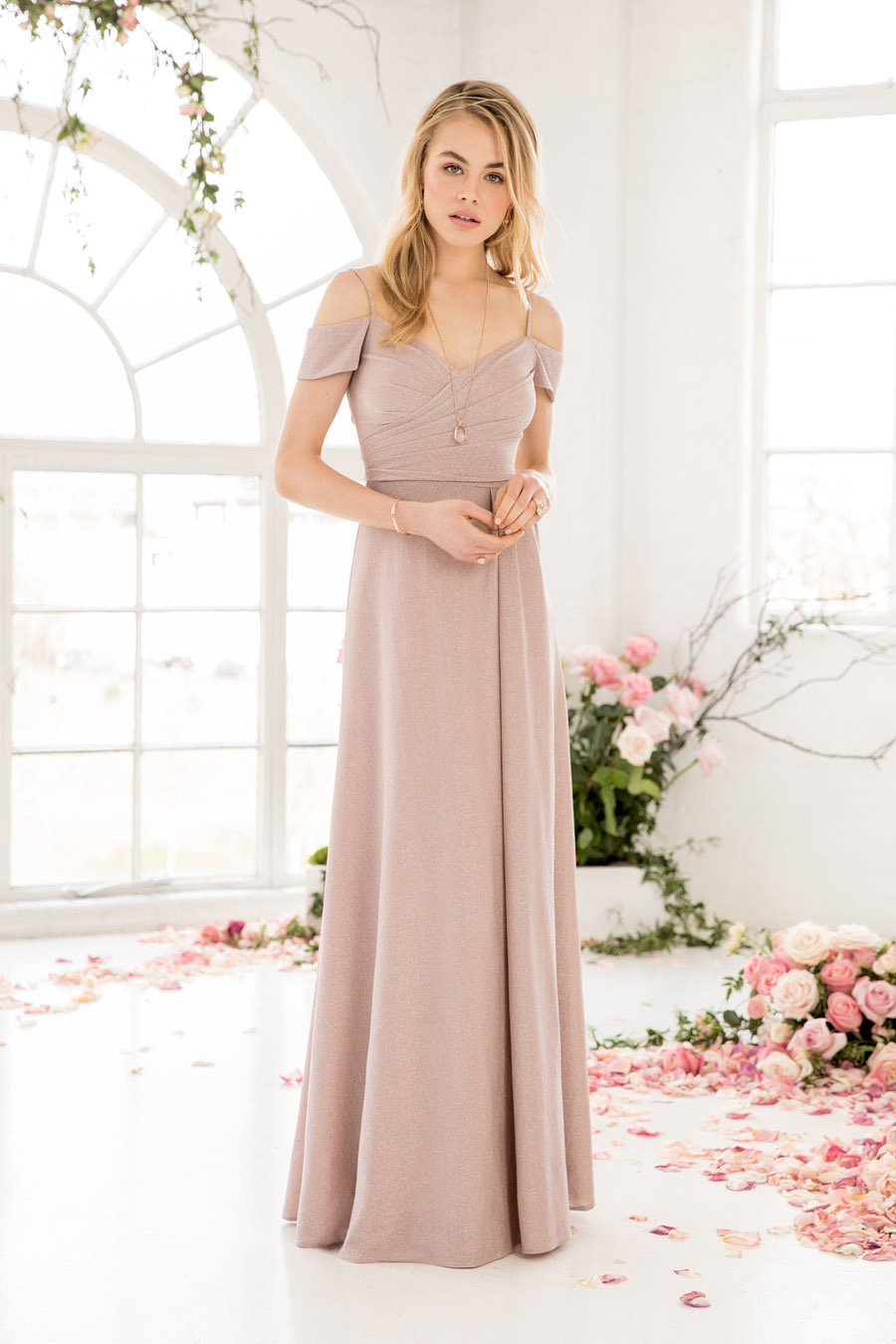 The English Wedding Blog showcases Kelsey Rose bridesmaids dresses for 2019 in dusty pink, pastel yellow and blue and more (2)