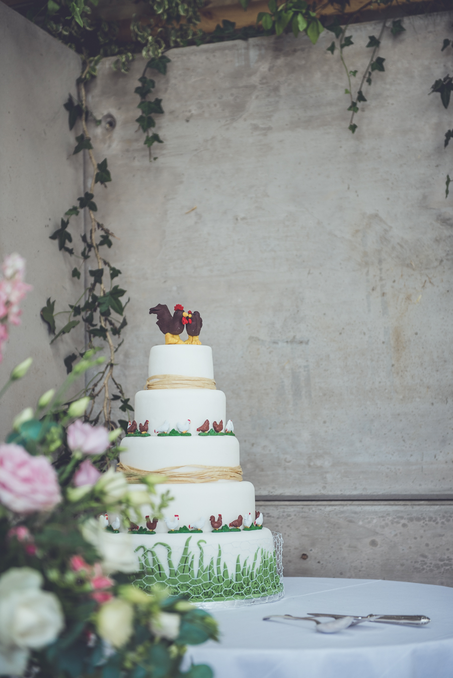 Farm wedding with a chicken and egg theme, by Catherine Spiller Photography (31)