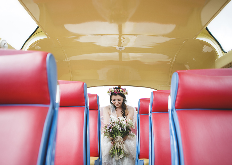 The brightest vintage bus! Colour and playful wedding styling, with Katrina Matthews Photography (8)