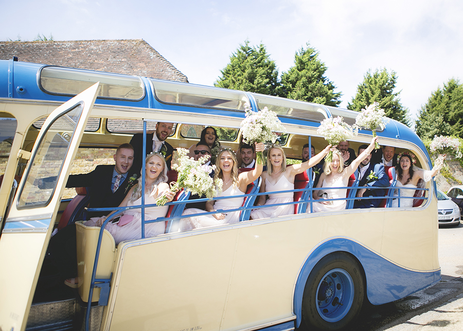 The brightest vintage bus! Colour and playful wedding styling, with Katrina Matthews Photography (14)