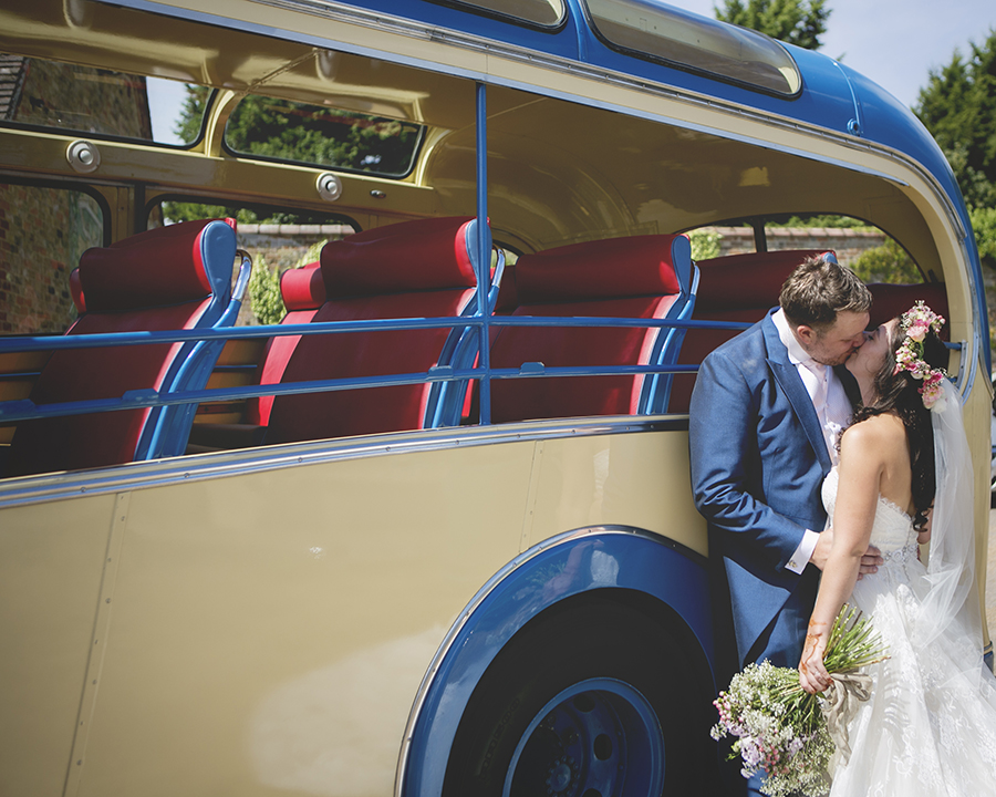 The brightest vintage bus! Colour and playful wedding styling, with Katrina Matthews Photography (15)