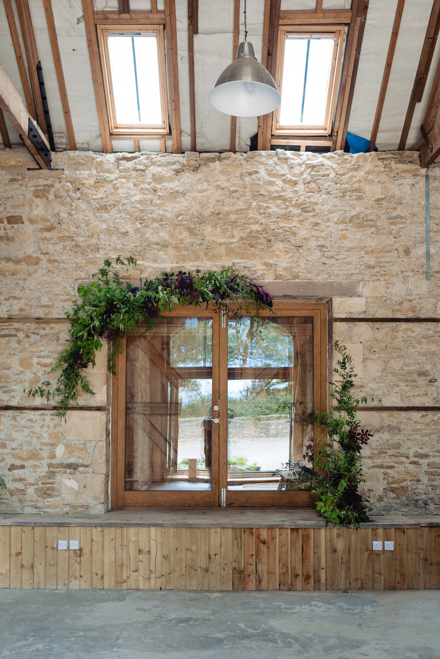 The Old Barn, Kelston - behind the scenes wedding flower styling - photo by Martin Pemberton (17)