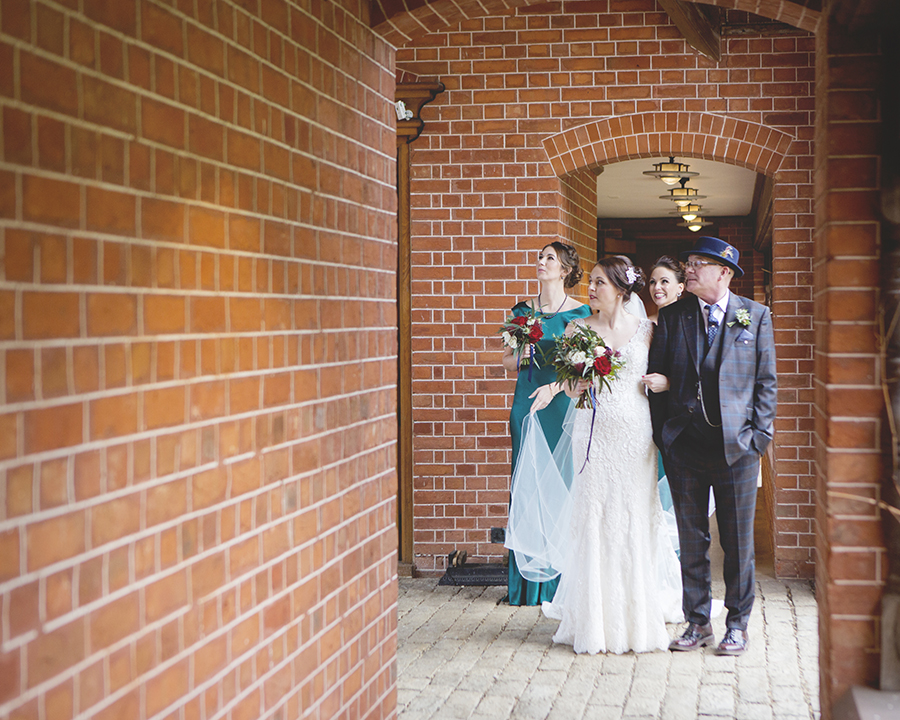 Elegant Christmas wedding ideas for a Waddesdon Dairy wedding, images by Katrina Matthews Photography (14)