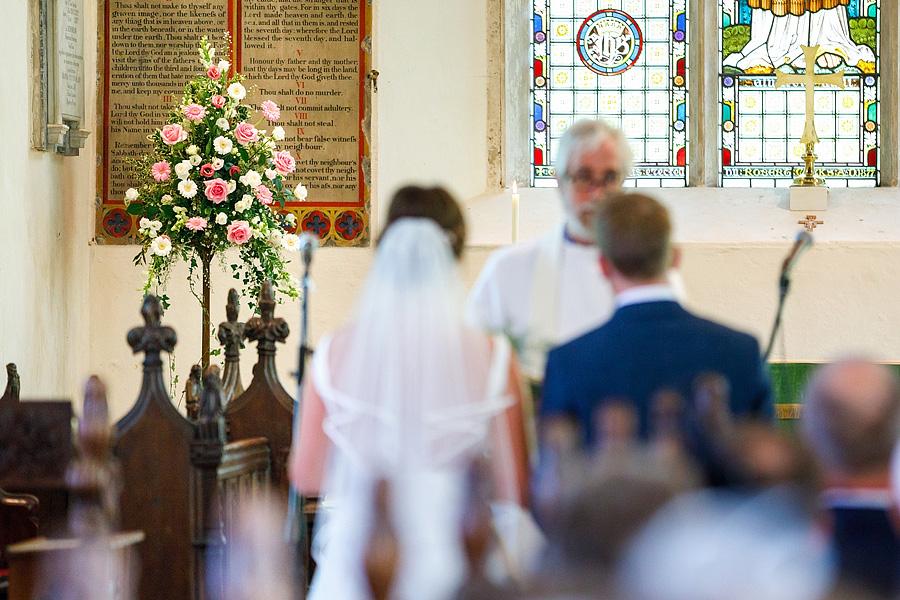 Norfolk wedding blog with hanging florals, image credit Duncan Kerridge on the English Wedding Blog (8)