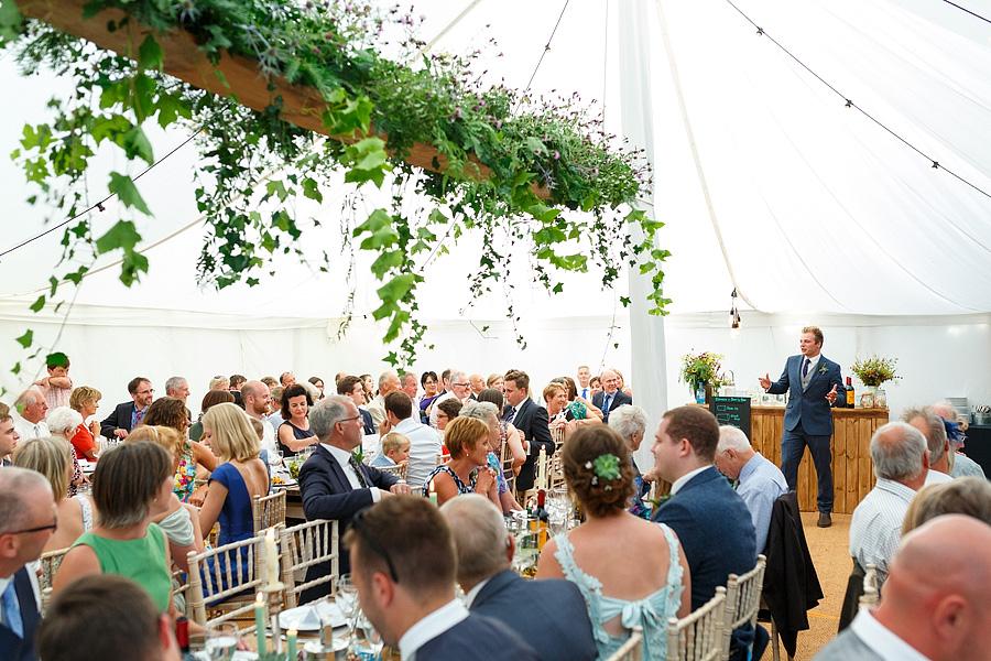 Norfolk wedding blog with hanging florals, image credit Duncan Kerridge on the English Wedding Blog (25)