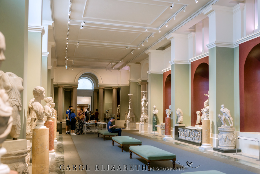 See the Ashmolean museum transformed for a unique wedding celebration with images by Carol Elizabeth Photography (11)