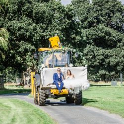 We rode to our reception in a digger! Danelle & Adam, with Ayshea Goldberg Photography