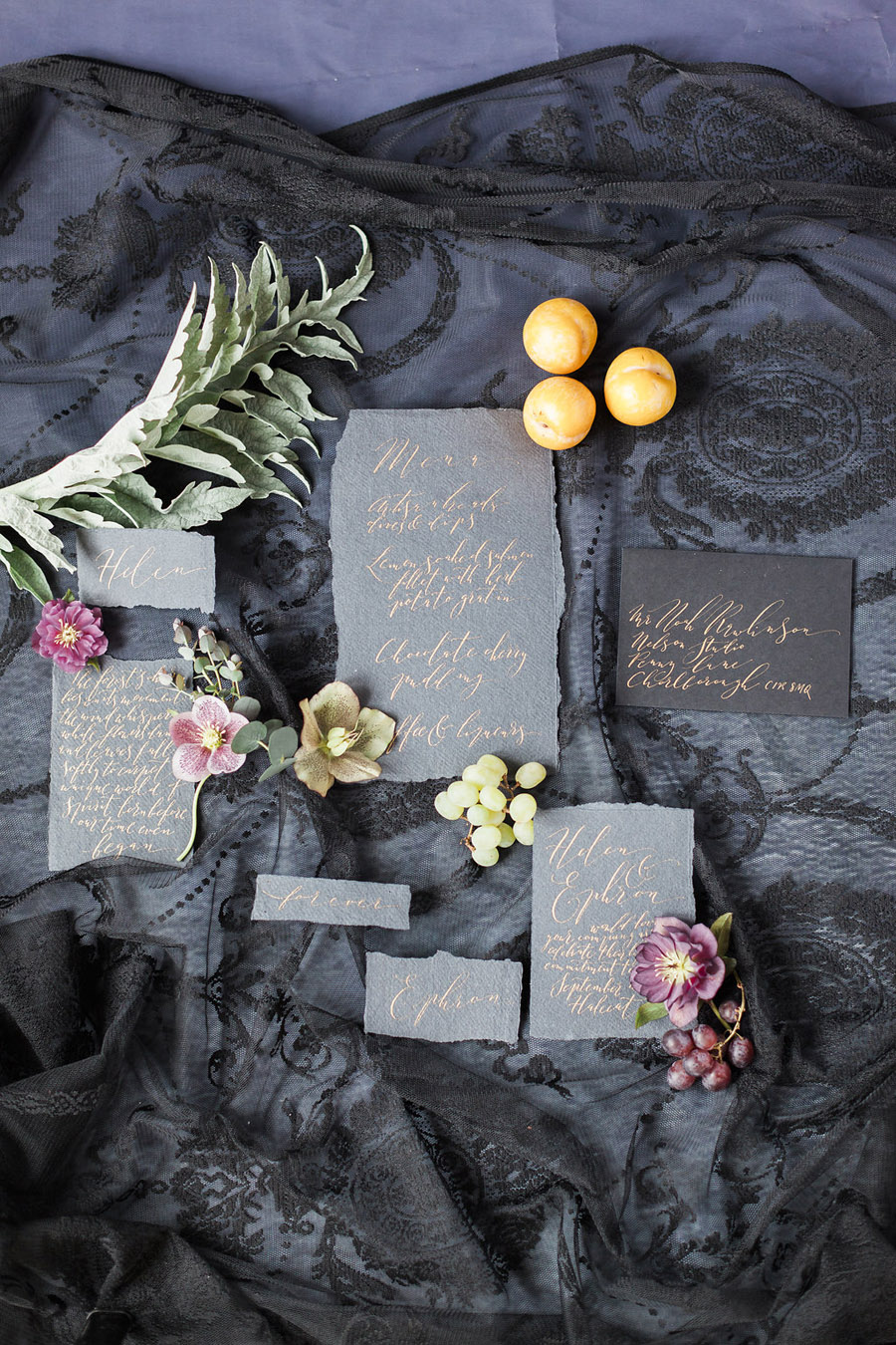 Dark Floral wedding ideas, alternative wedding styling, photo credit Jo Bradbury (3)