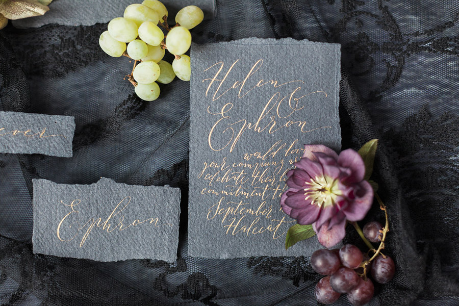 Dark Floral wedding ideas, alternative wedding styling, photo credit Jo Bradbury (4)