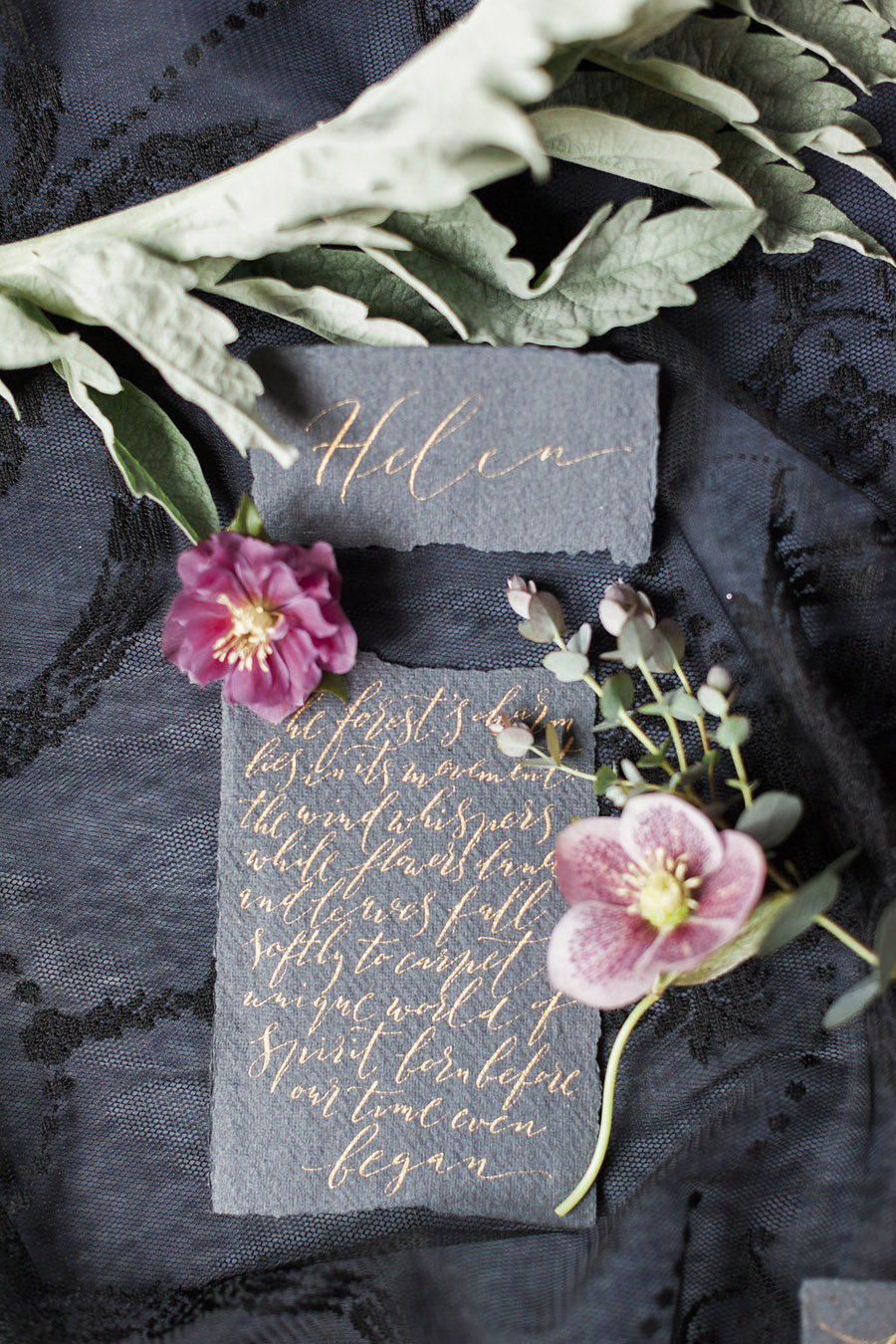 Dark Floral wedding ideas, alternative wedding styling, photo credit Jo Bradbury (5)