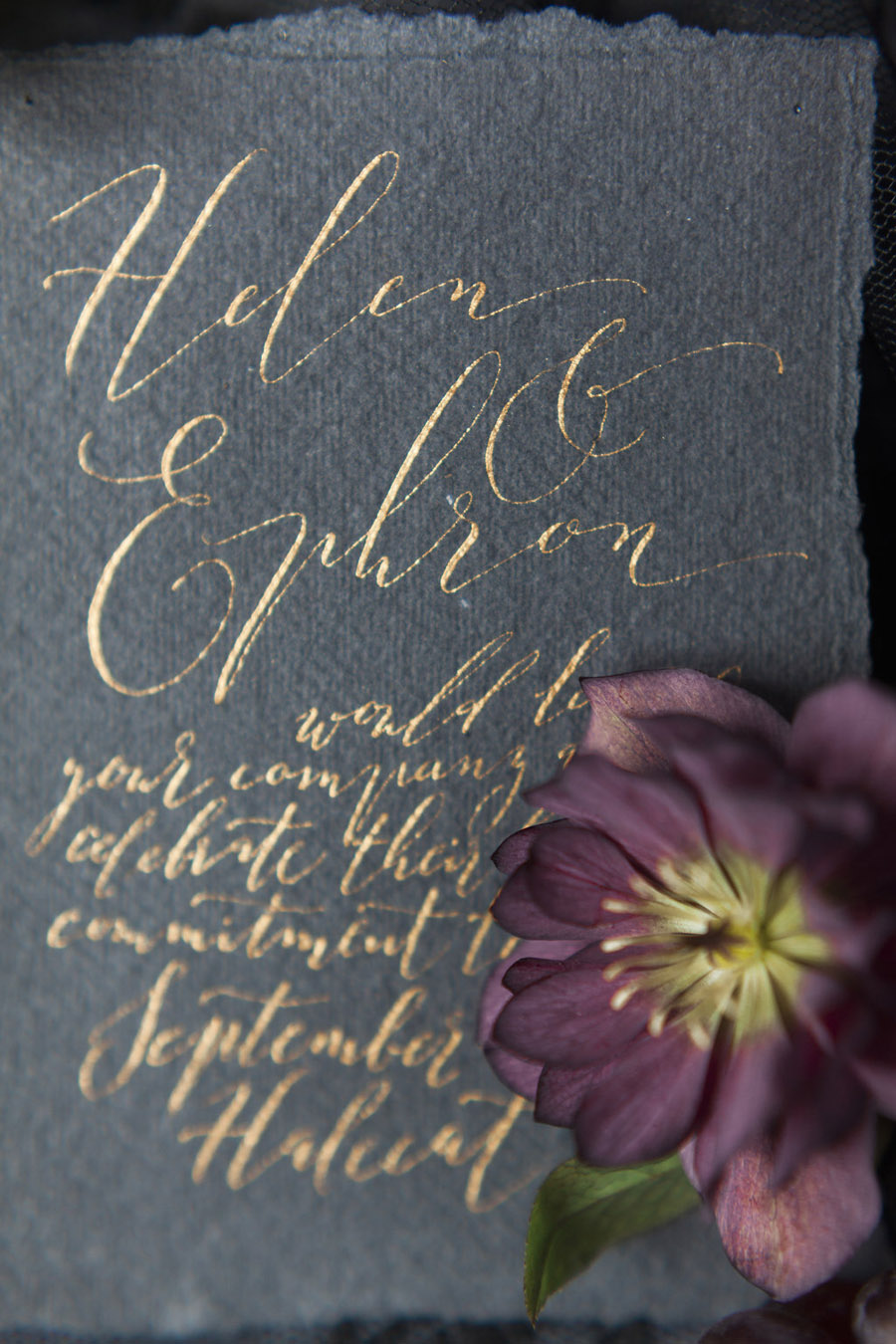 Dark Floral wedding ideas, alternative wedding styling, photo credit Jo Bradbury (7)