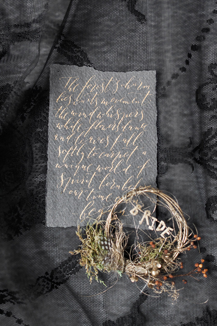 Dark Floral wedding ideas, alternative wedding styling, photo credit Jo Bradbury (12)