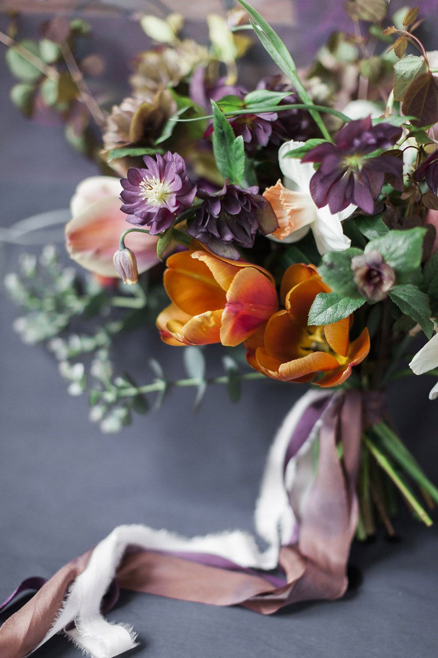 Dark Floral wedding ideas, alternative wedding styling, photo credit Jo Bradbury (16)