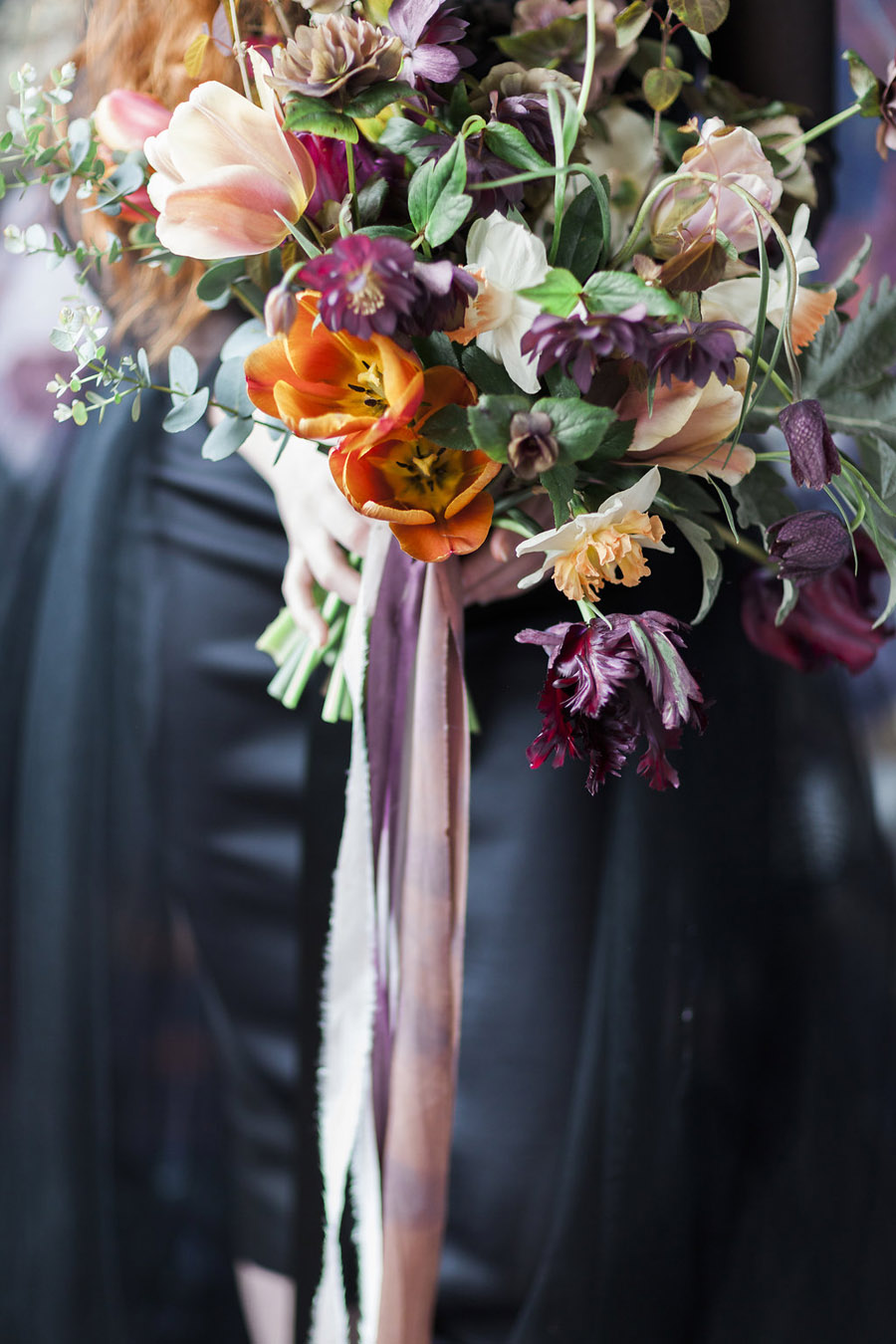 Dark Floral wedding ideas, alternative wedding styling, photo credit Jo Bradbury (41)