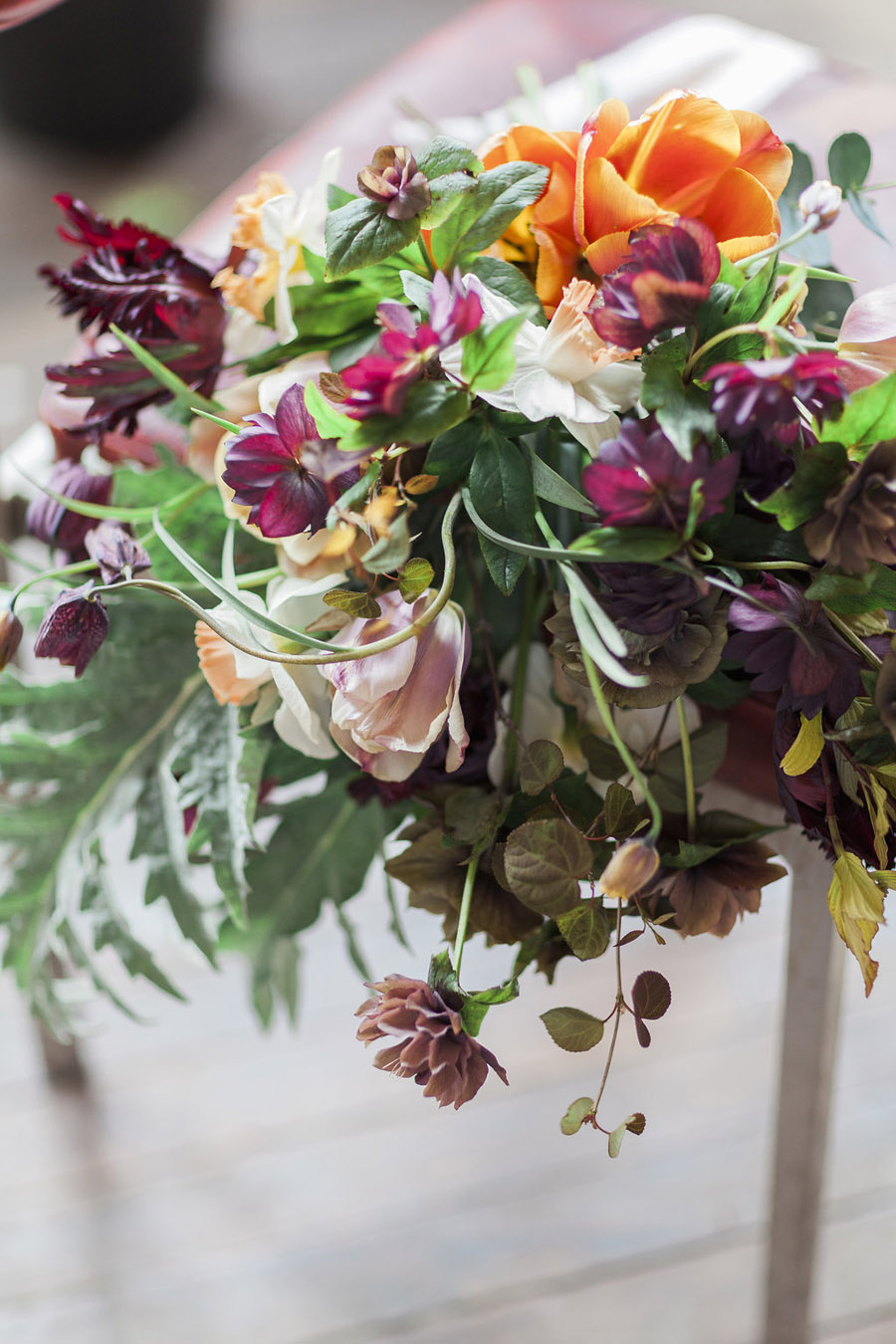 Dark Floral wedding ideas, alternative wedding styling, photo credit Jo Bradbury (42)