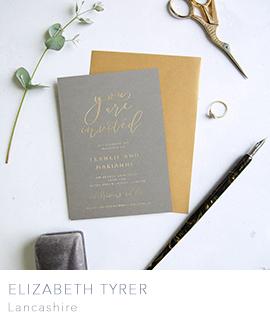 Elizabeth Tyrer wedding stationery lancashire
